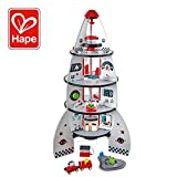 Four Stage Toddler Rocket Ship Playset by Hape | Award Winning Wooden Spaceship Toy with Real Life Space Shuttle Designs, 20 Rocket Space Center Pieces and Planetary Lander