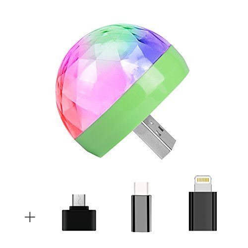 USB Mini Disco Lights,Portable Home Party Light,DC 5V USB Powered Led Stage Party Ball DJ Lighting,Karaoke Party Led Christmas Decorations Brithday Party Wedding Show Pub