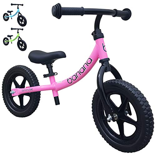 Banana Bike LT - Lightweight Balance Bike for Kids - 2, 3, 4 Year Olds (Pink 2019)