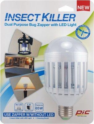 PIC IKC 9 Watt Warm White LED Light Bulb Insect Killer Carded