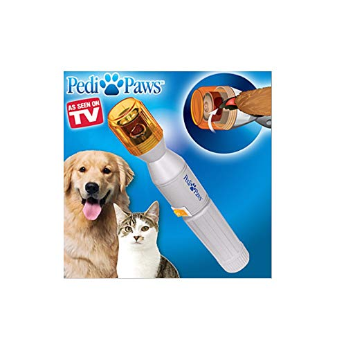 TTM Pedi Paws Dog Grinder,Professional Style Dog Grooming Using Gentle Filing Wheel for Your Pet's Paws,Grooming Care Grinder Electric Grooming Trimmer Clippers