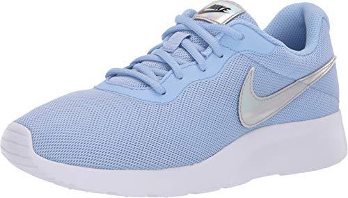 Nike Womens Tanjun Running Sneaker Aluminum/Black 812655-406 (7 B US)