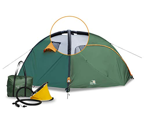 Ryno-Tuff-Camping-Tent-4-Person-Tent-with-Inflatable-Poles-8-by-8-Feet-Wide-and-5-Feet-High-Durable-Waterproof-Materials-with-Full-Coverage-Rain-Fly-and-Mosquito-Mesh-Inflatable-Tent-for-Camping