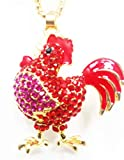 Betsey Johnson Red Rooster Necklace
