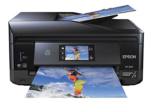 Epson XP-830 Wireless Color Photo Printer Scanner, Copier & Fax, Amazon Dash Replenishment Enabled