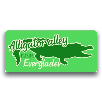 Alligator Alley Vinyl Decal Sticker Travel Explore Adventure Camping Fishing Hike 2 Pack 8 Inch by 3.75 Inch Premium Quality Vinyl UV Protective Laminate PD1875
