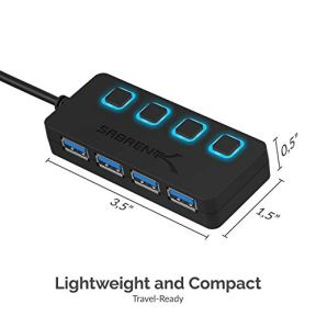 Sabrent-4-Port-USB-30-Hub-with-Individual-LED-Power-Switches-2-Ft-Cable-Slim-Portable-for-Mac-PC-HB-UM43