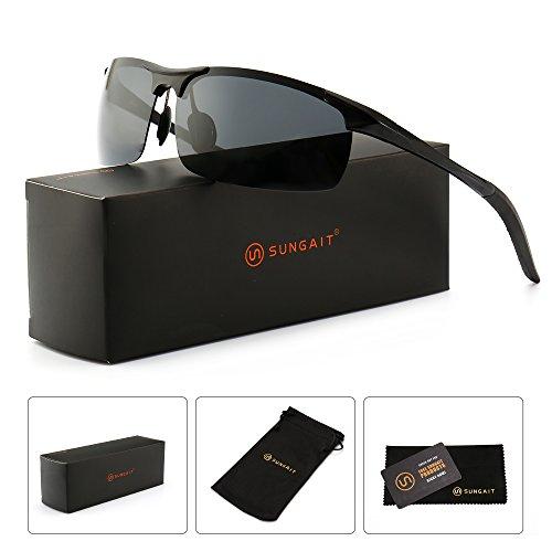 e2229911d11f SUNGAIT Men s Polarized Sunglasses for Driving Fishing Golf Metal ...