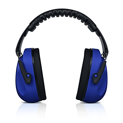 HearTek Kids Ear Protection Noise Reduction Children Protective Earmuffs - Sound Cancelling Hearing Muffs for Toddler, Baby, Infants - Adjustable, Foldable with Travel Bag- Dark Blue
