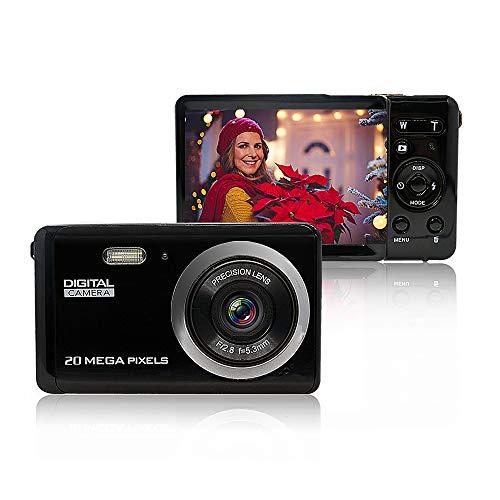 MiniDigitalCameraforPhotographywith3InchLCD8XDigitalZoom,20MPHDDigitalCameraRechargeablePointandShootCamera,IndoorOutdoorforKids/Seniors/Learner(Black)…