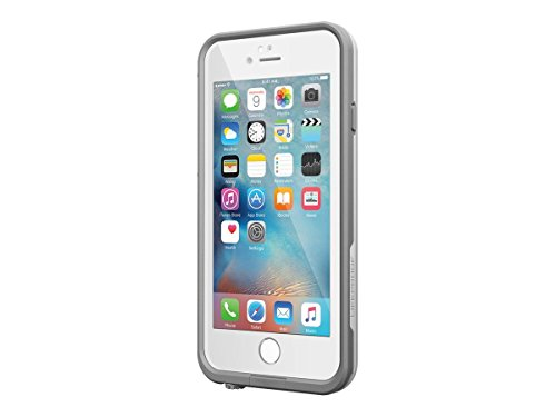 Lifeproof FRĒ SERIES iPhone 6 Plus/6s Plus Waterproof Case (5.5' Version) - Retail Packaging - AVALANCHE (BRIGHT WHITE/COOL GRAY)