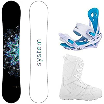 System 2021 MTNW Snowboard w/Mystic Bindings and Lux Boots Women's Complete Snowboard Package