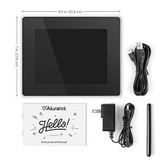 Aluratek-8-Inch-Touchscreen-Wifi-Digital-Photo-Frame-8GB-Memory-with-Built-In-Clock-Calendar-Alarm-Weather-Black-AWDMPF208F