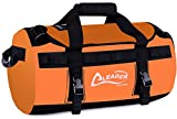 Leader Accessories Deluxe Water Resistant PVC Tarpaulin Duffel Bag Backpack (Orange, 90L)