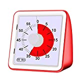 Avenod 60 Minute Visual Analog Timer, Silent Countdown Timer, Time Management Tool for Classroom or Meeting Countdown Clock for Kids and Adults