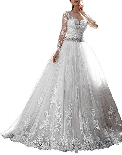 Cardol 2017 Women's Lace Wedding Dresses Bridal Gowns Long