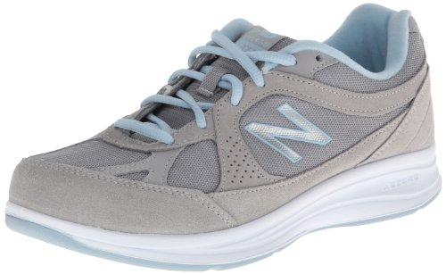 New Balance Women's WW877 Walking Shoe, Silver, 9 D US
