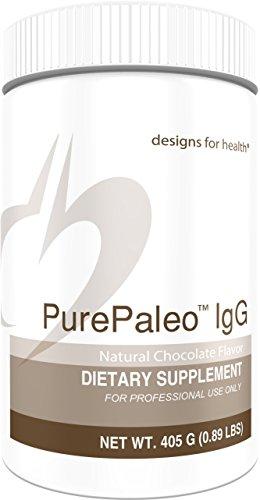 Designs for Health - Chocolate PurePaleo IgG - Protein Powder with BCAAs + Immunoglobulin, 405g