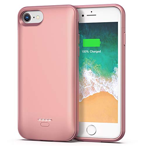iPhone 6 6s Battery Case, 4000mAh Portable Protective Charging Case for iPhone 6 6s(4.7 inch) Extended Battery Charger Case (Rose Gold)