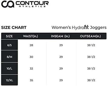 Contour Athletics Hydrafit Joggers for Women, Sweatpants for Women Yoga Pants with Zipper Pockets 7