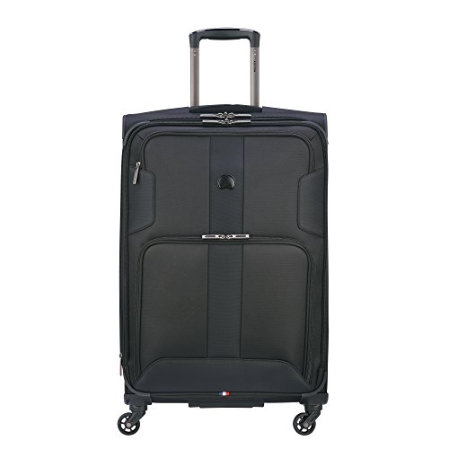 Delsey Paris Luggage Sky Max 25 inch Expandable Spinner Suitcase, Black