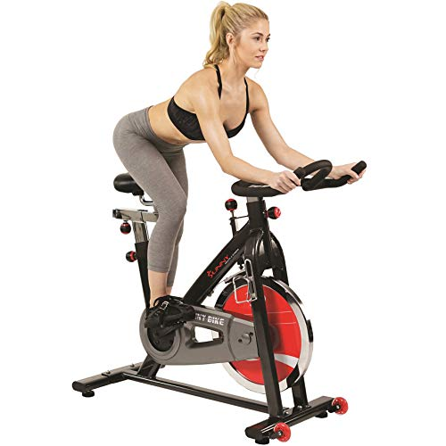 Sunny Health & Fitness SF-B1002 49lb Flywheel Belt Drive Indoor Cycle Bike