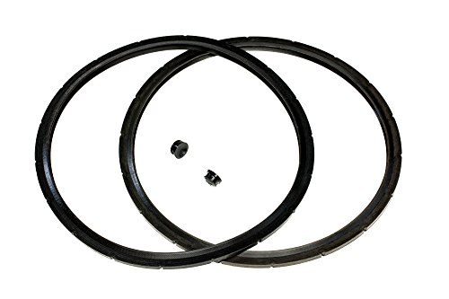 2-Pack of Presto Pressure Cooker Sealing Ring/Gasket & Overpressure Plug (2 Sets per Pack) - Fits Various 6-Quart Presto Models - Corresponds to 09936 - By IMPRESA