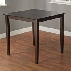 Target Marketing Systems The Foley Collection Contemporary Style Counter Height Kitchen Dining Table, Espresso
