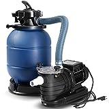 Goplus 13' Sand Filter Pump for Above Ground Pools 2450GPH Swimming Pool Pump w/Pressure Gauge, 10000GAL