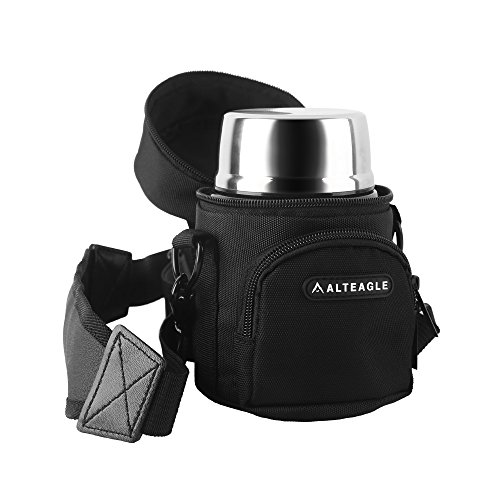Alteagle Lunch Bag for Thermos Stainless King 16 Ounce Food Jar Tote Bag Lunch Carrier Container W/Carrying Handle and Shoulder Strap for Men Women and Kids (No Bottle)