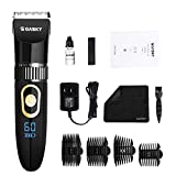 Pet Clippers Dog Cat Grooming Kit Professional Rechargeable Cordless Dog Clippers for Thick Coats Small Large Dogs Quite Pet Grooming Shaver with Scissor Combs Guards for Dog Cat Animal