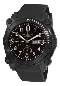 Hamilton Men's H78686333 Khaki Navy BelowZero Black Chronograph Dial Watch