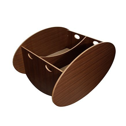 BabyHome So-Ro Cradle Stylish Soothing Infant Rocker, Walnut, Twin