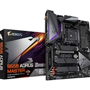 GIGABYTE B550 AORUS Master (AM4 AMD/B550/ATX/Triple M.2/SATA 6Gb/s/USB 3.2 Gen 2/WiFi 6/Realtek ALC1220-Vb/Fins-Array…