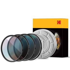 KODAK-72mm-Schott-Glass-Filter-Set-Pack-of-4-UV-CPL-ND4-Warming-Filters-for-Various-Effects-Slim-Waterproof-Polished-Nano-Multi-Coated-16-Layers-Retro-Case-Mini-Guide-PhotoGear