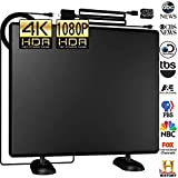 Grell 120Miles Ultra 4K Amplified TV Antenna - Indoor/Outdoor HDTV Antenna with Amplifier Booster Free TV Channels High Reception for VHF/UHF/1080P/4K Digital Antenna Signals 16ft
