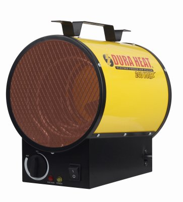 Dura Heat EUH4000 4000W Electric Forced Air Heater Length: 10.75in, Width: 8.35in, Height: 13in