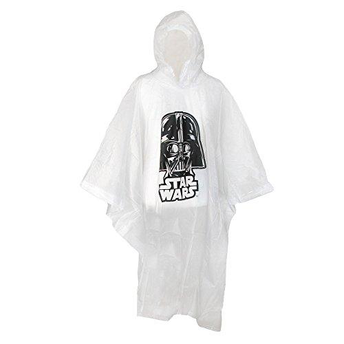 Disney Adult Star Wars Darth Vader Clear Rain Poncho (1, one Size)
