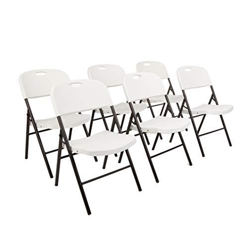 AmazonBasics Folding Plastic Chair – 350 lb. Capacity