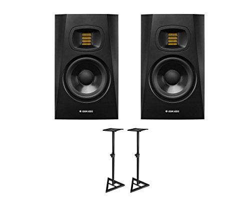2x ADAM T5V Active Studio Monitor Powered Speaker + Stands