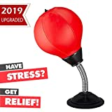 Keytas Desktop Punching Bag with Stand Boxing Bag for Kids Stress Buster Relief Ball Office Gifts Toys for Men and Adults Punch Ball with Suction Cup to Reflex Strain and Tension