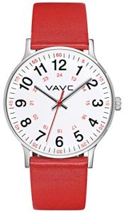 VAVC Scrub Watch for Nurses,Doctors,Students and Medical Professionals with Second Hand. Easy to Read Quartz Wrist Watch