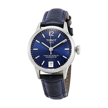Tissot Chemin des Tourelles Powermatic 80 Blue Leather Watch 32mm T099.207.16.047.00