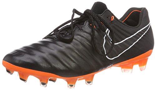 NIKE Tiempo Legend VII Elite FG AH7238-080 Black//Orange Kangaroo Leather Men's Soccer Cleats