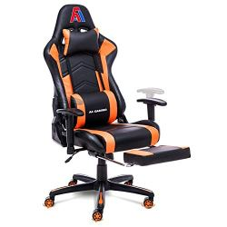 AA Products Gaming Chair Ergonomic High Back Computer Racing Chair Adjustable Office Chair with Footrest, Lumbar Support…