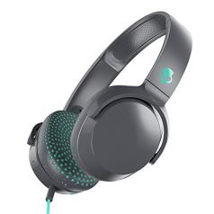Skullcandy Riff Wired On-Ear Headphone with Mic (Grey/Speckle/Miami)