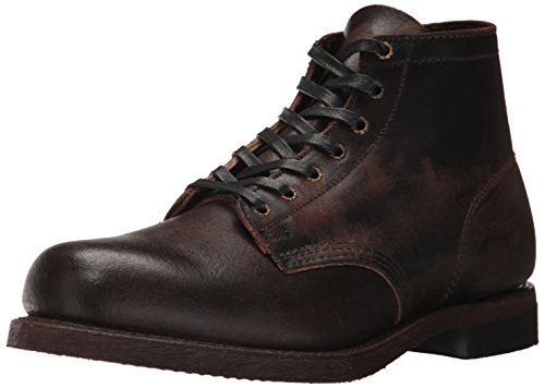 FRYE Men's Prison Combat Boot, Chocolate, 12 D US