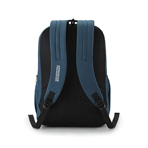 41TPzo9qVeL - American Tourister Spin 49 cms Teal Laptop Backpack (FS0 (0) 11 001)