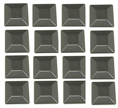 JSP Manufacturing 16 Pack Fence Post Plastic Black Caps 4X4 (3 5/8') Pressure Treated Wood Made in USA