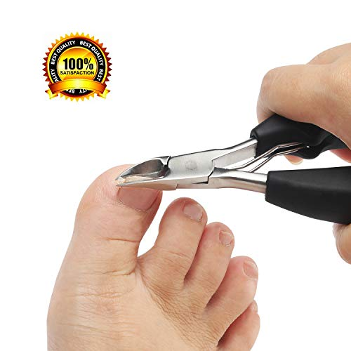 Nail Clippers Toenail Clippers for Thick Nails for Seniors with Curve Diagonal Blade for Ingrown Nails Effortlessly Toe Nail Clippers Heavy Duty Stainless Steel Physician Easy Grip for Older Hand